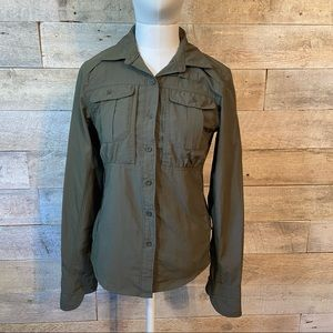 The North Face button up long sleeved top size XS